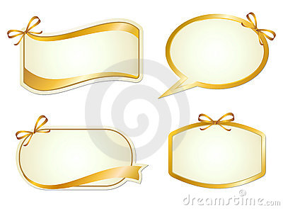 Elegance graphic sign with ribbon