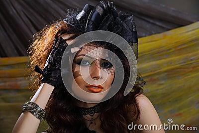 Elegance lady head shot