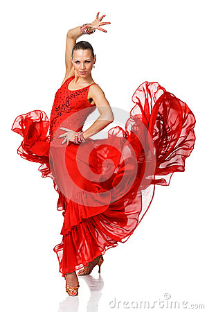 Free Elegance Latino Dancer Girl In Action Stock Images - 29689314