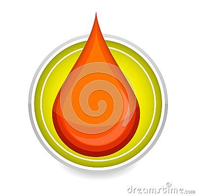 Elegance medic symbol blood drop red color
