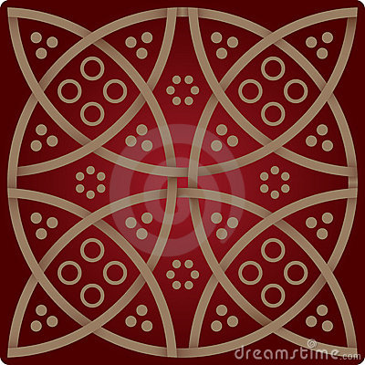 Elegance pattern in wine red colours