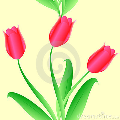 Elegance Seamless color tulips pattern
