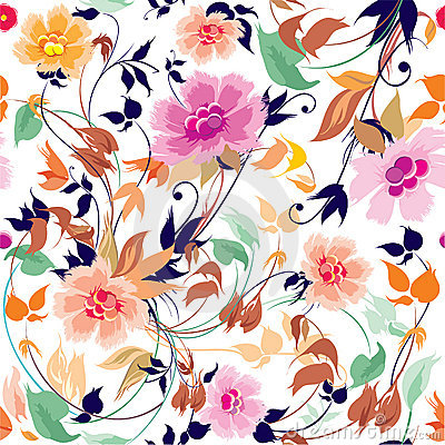 Free Elegance Seamless Floral Pattern Stock Images - 18535834