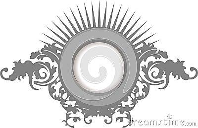 Elegance Silver Gray Floral Curves  Frame