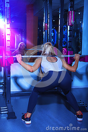 Elegance sports female workout