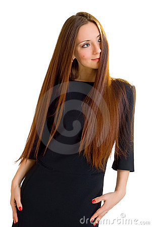 Elegance style woman with  long hair