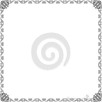 Elegance vector frame
