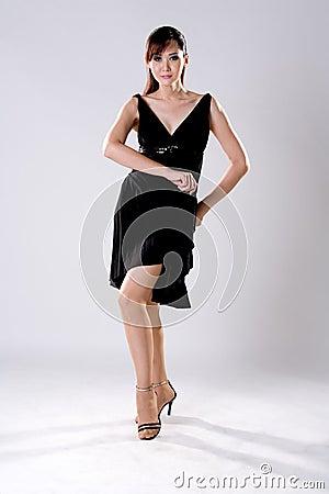 Elegance woman in dancing pose