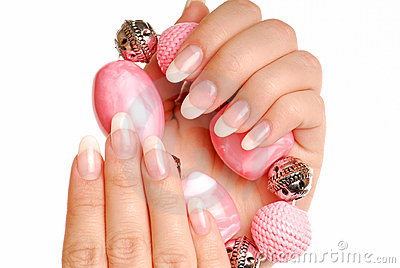 Elegance woman nails