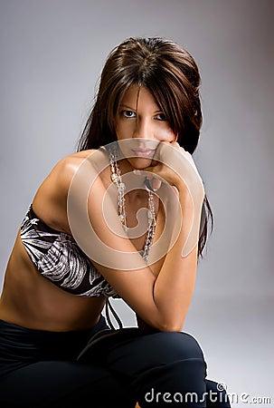 Elegance young beautiful woman posing