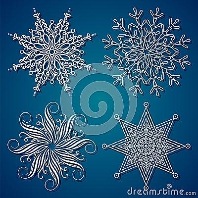 Elegancja płatek śniegu