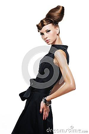 Elegancy stylish glamour girl
