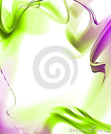Elegant abstract frame