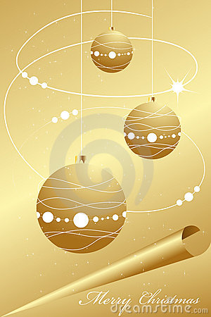 Elegant abstract gold christmas background
