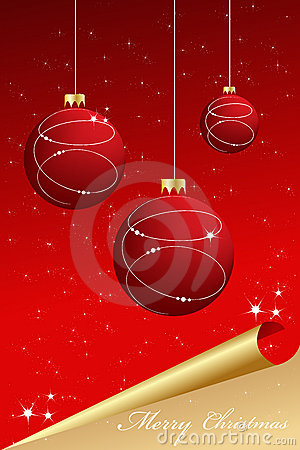 Elegant abstract red-gold christmas background