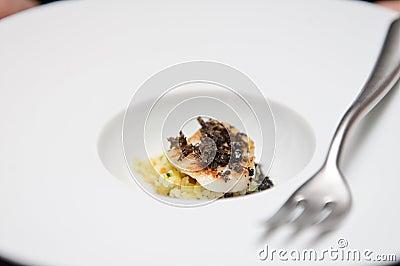 Elegant appetizer with Saint Jaques