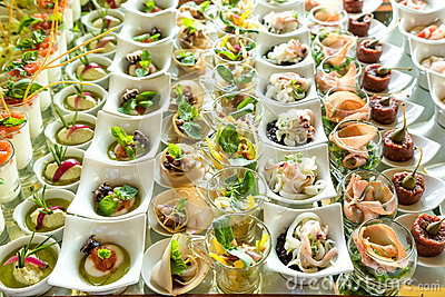 Elegant Appetizers Stock Photo - Image: 52237449