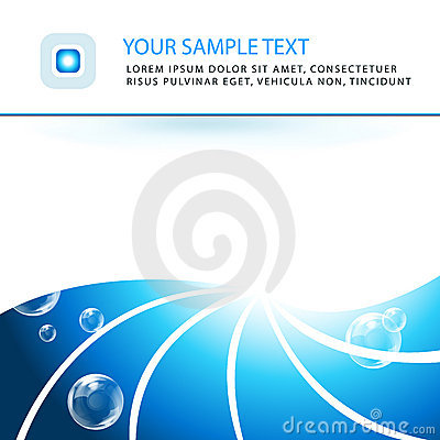 Elegant aqua business background