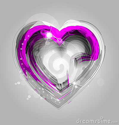 Elegant background with heart and ornaments