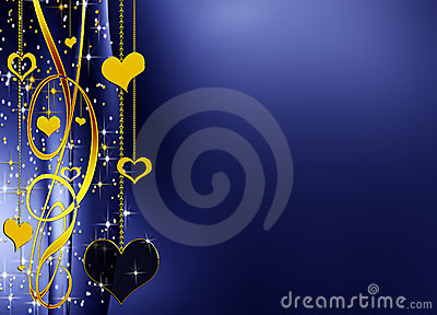 elegant background with hearts