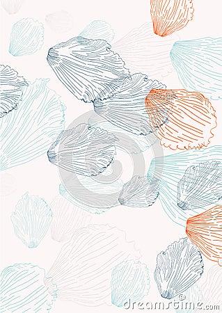 Elegant background with petals