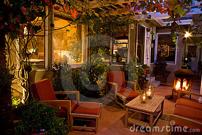 Elegant backyard patio