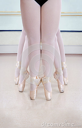 Elegant Ballerina Legs In Classroom