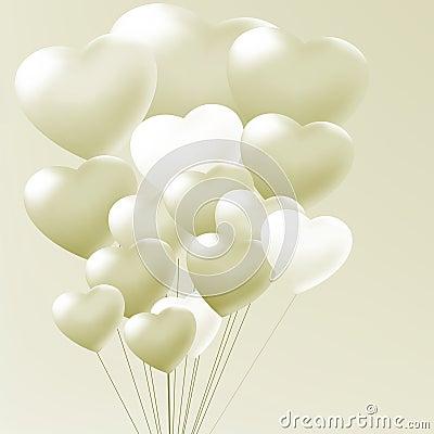 Elegant balloons heart valentine s day. EPS 8