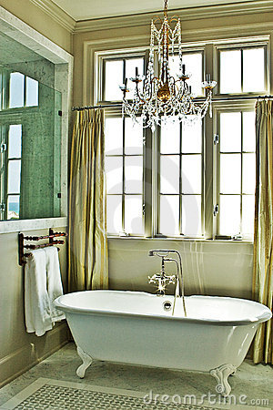 Elegant Bathroom with Tub