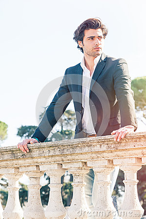 Free Elegant Beautiful Business Pensive Italian Man. Charming Prince Royalty Free Stock Images - 67558039