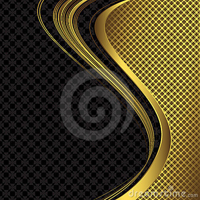 Elegant black and golden background