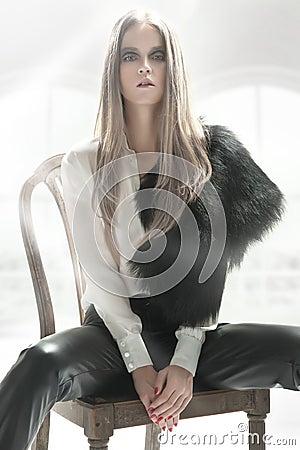 Elegant blond beauty