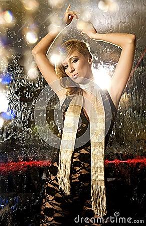 Elegant blondie woman