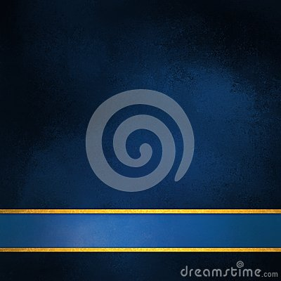 Free Elegant Blue Background Layout With Blank Blue And Gold Stripe Footer Stock Image - 60981941