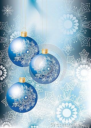 Elegant blue Christmas background