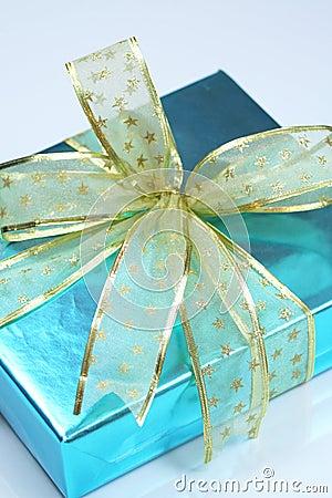 Elegant blue present