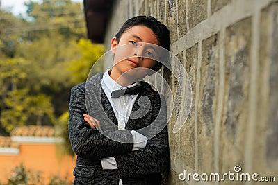 Elegant Boy Leaning Against Wall Free Public Domain Cc0 Image