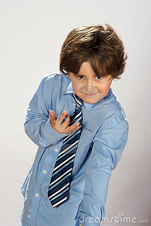 Elegant boy wearing tie