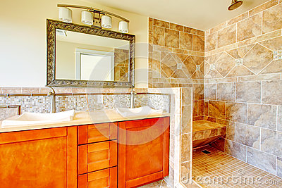 Elegant bright bathroom