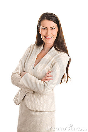 Elegant businesswoman wearing suit