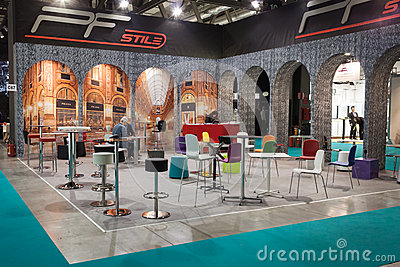Elegant chairs at Host 2013 in Milan, Italy Editorial Stock Photo
