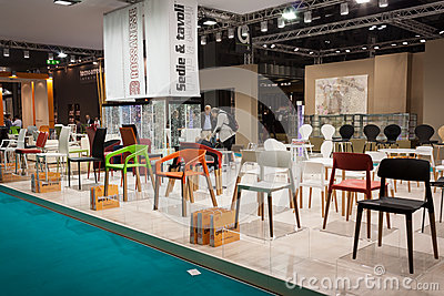 Elegant chairs at Host 2013 in Milan, Italy Editorial Photography