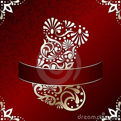 Elegant Christmas card with filigree stocking