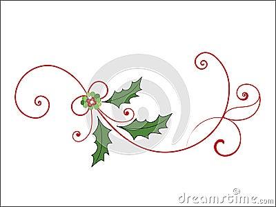 Elegant Christmas Flourish Photo | SpiderPic Royalty Free Stock Photos