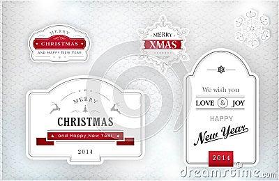 Elegant Christmas labels, emblems