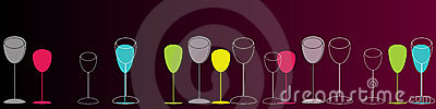 Elegant colorful glasses illustration