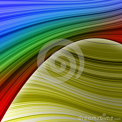 Elegant colorful swath abstract