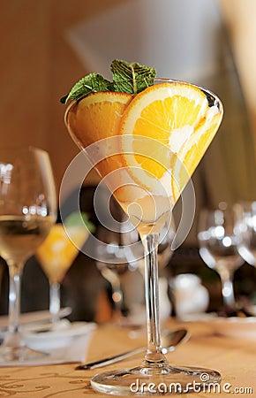 Elegant cream citrus dessert