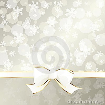 Elegant cream-colored holiday banner