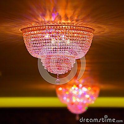Elegant crystal chandeliers